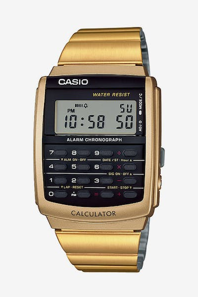 Casio CA506G-9A Digital Calculator Watch Gold