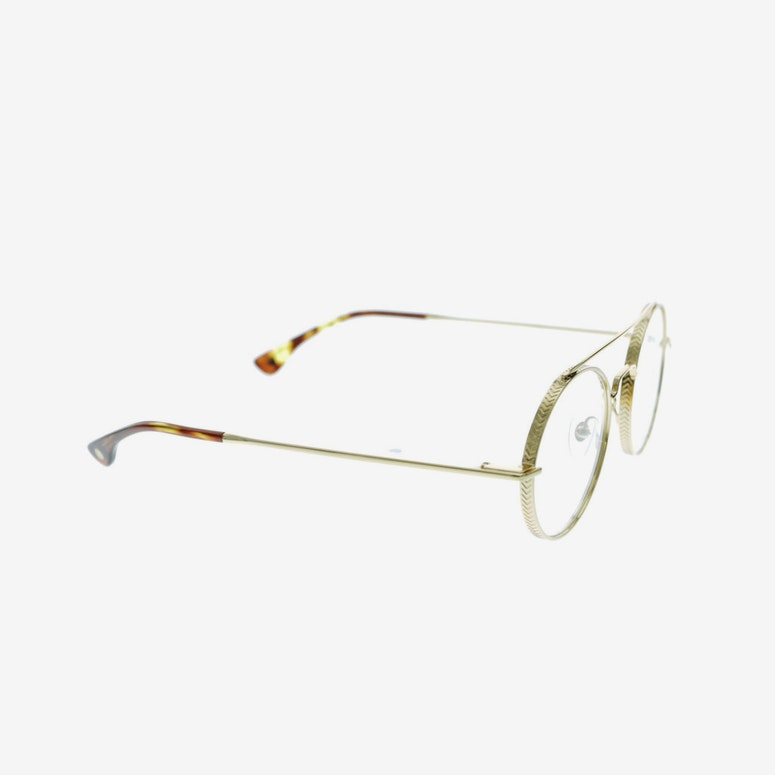 9FIVE 50 50 Clear Lens Gold Tortoise