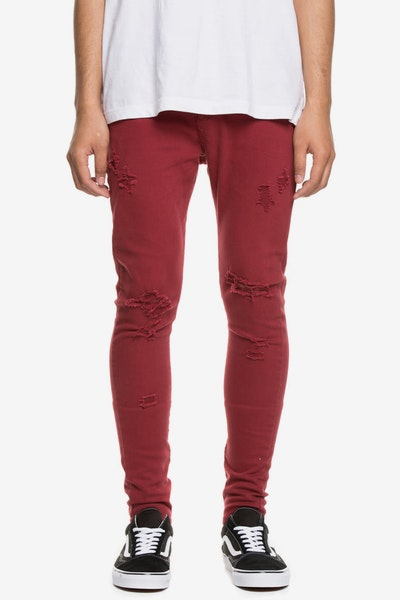 Saint Morta SM Slasher S Skinny Jean Wine