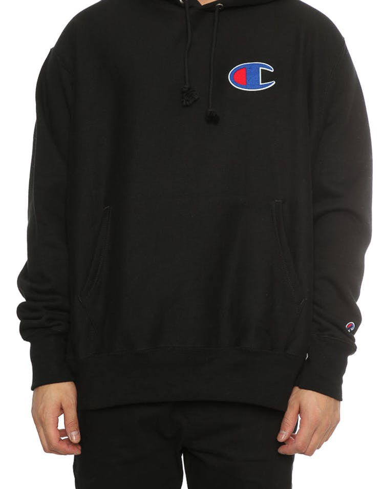 undefeated x top design new appearance Champion Reverse Weave Big C Hoodie Black