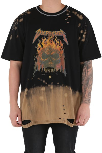 DXPE Chef Normal Skull T-Shirt Acid Black