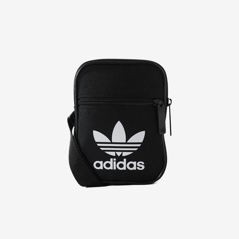 Adidas Trefoil Festival Bag Black White – Culture Kings NZ 3fc29f27aa529