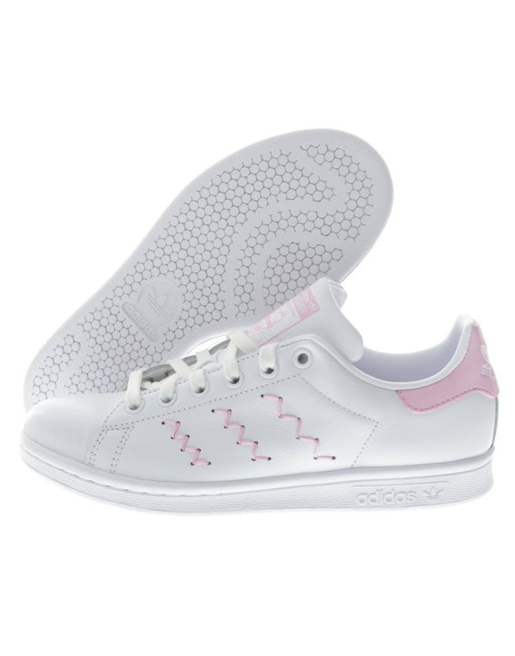 design de qualité de648 b9763 Adidas Originals Women's Stan Smith White/Pink | BZ0401 ...