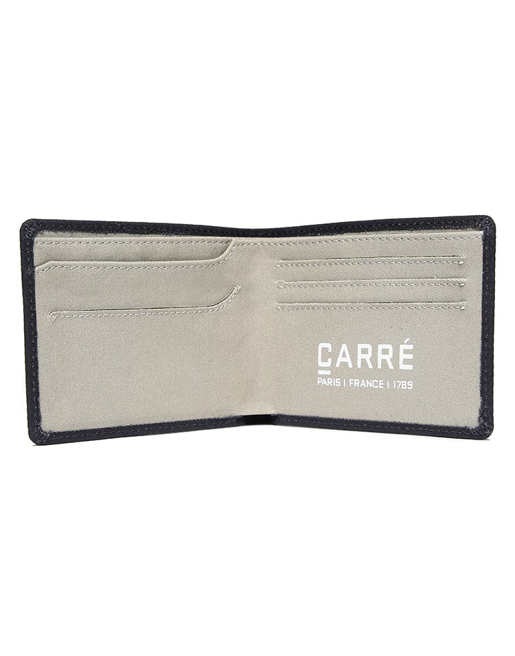 Carré Tresorier Canvas Wallet Navy/Grey