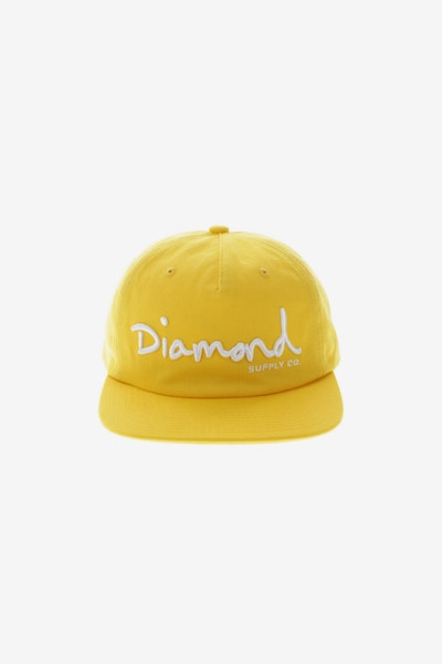 Diamond Supply OG Script Unconstructed Snapback Yellow