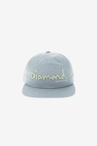 f8ad9f363d0 Diamond Supply OG Script Deconstructed Snapback Light Blue