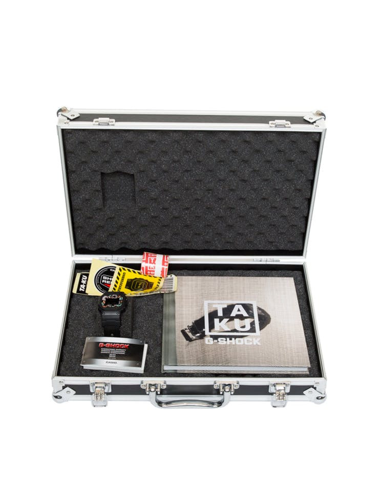 G Shock X Ta Ku Collaboration Dw5600 With Limited Flight Case Black