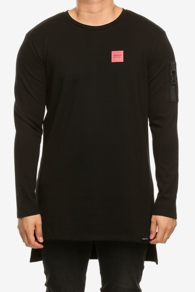 Emperor Apparel Stealth L/S T-Shirt Black/Red