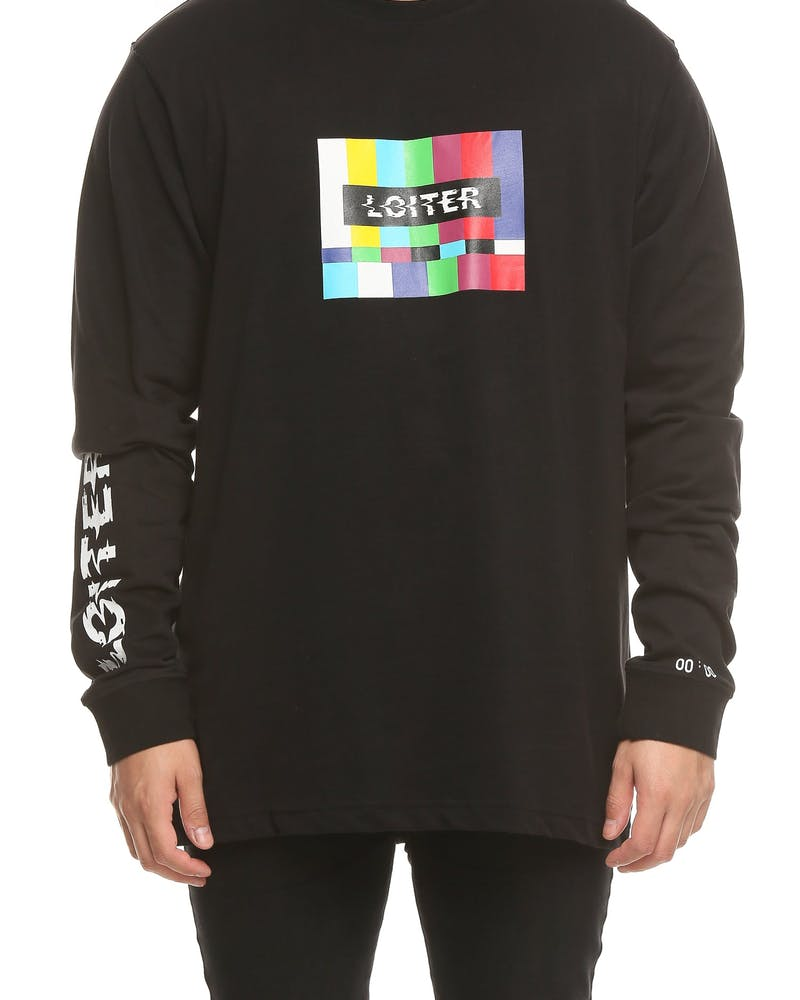Loiter NYC Test LS Tee Black