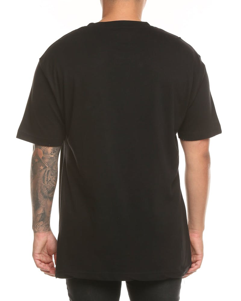 Loiter NYC Ocean Scroll SS Tee Black