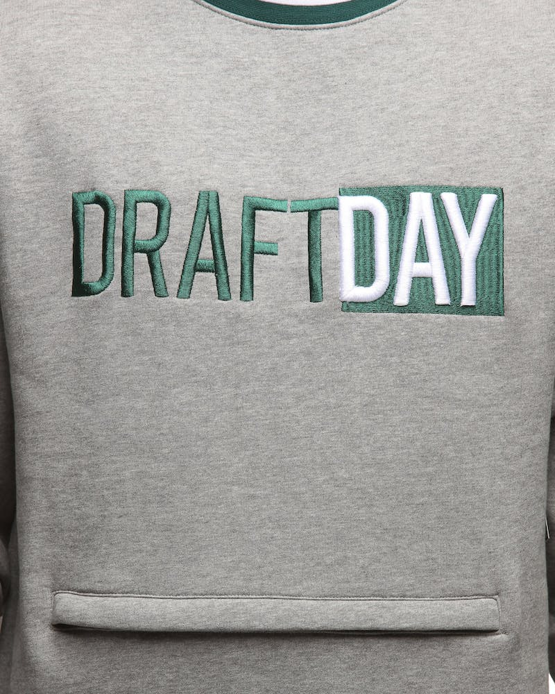 Draft Day Goalie Crewneck Grey/White/Teal