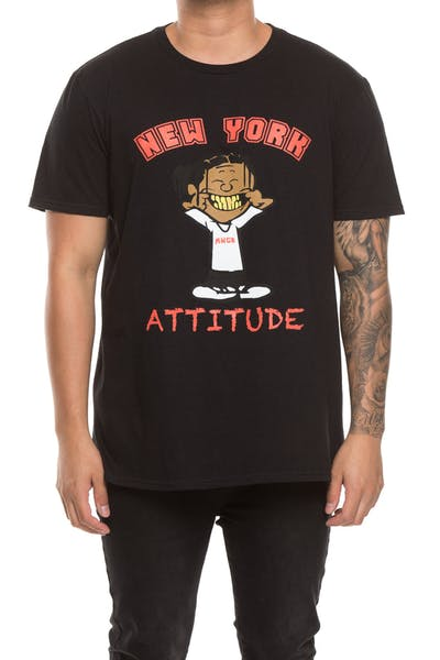 A$AP Mob Attitude Graphic S/S Tee Black