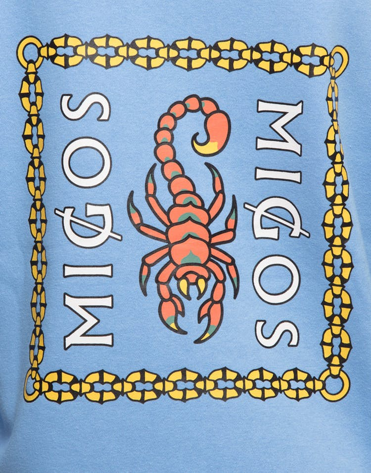 Migos Scorpion Square Hoodie Blue