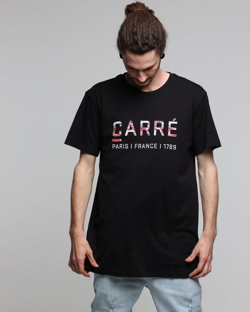 Carré Core Camo Rouge SS Tee Black