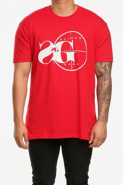 Sniper Gang Logo Tee Red
