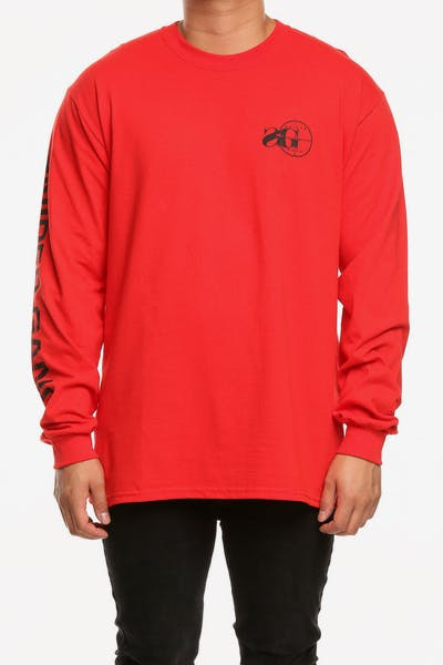 Sniper Gang Long Sleeve Logo Tee Red