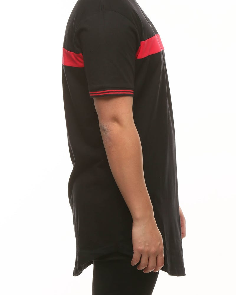 New Slaves Panel Tee Black/Red