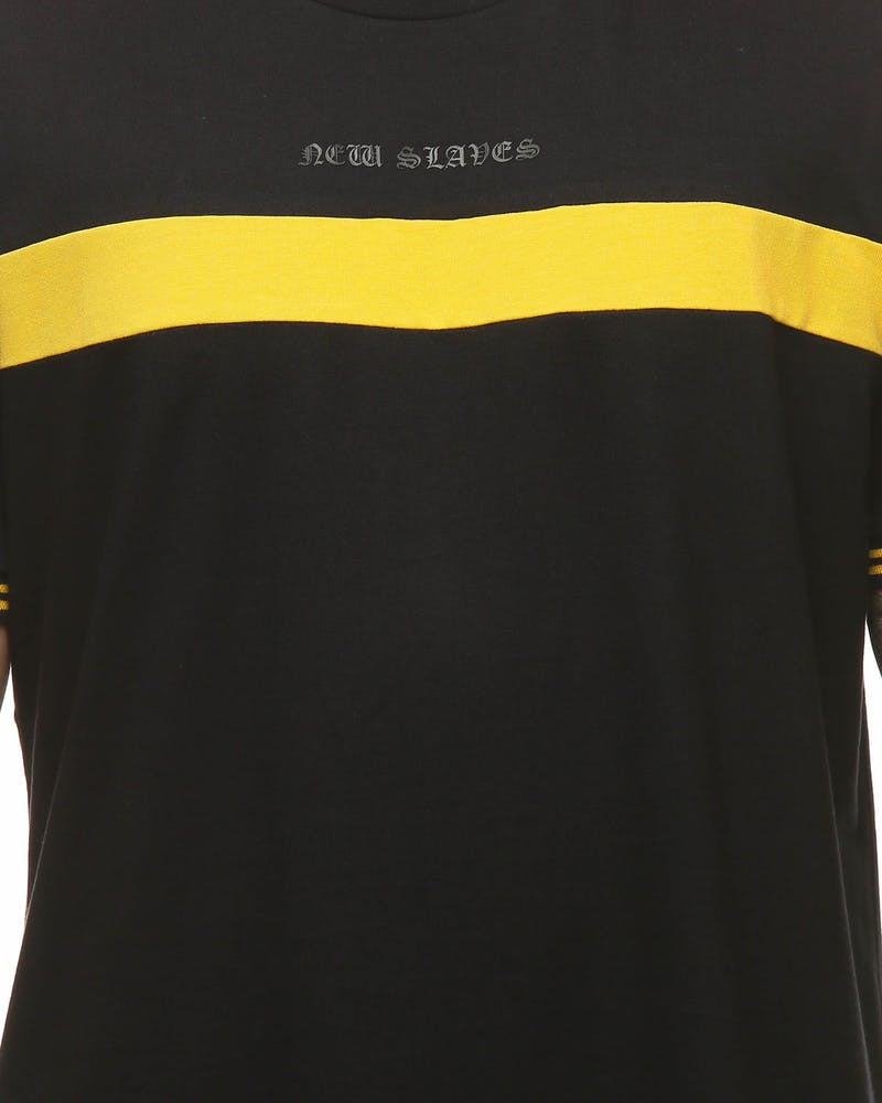 New Slaves Panel Tee Black/Yellow