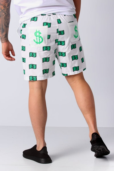 Goat Crew Baller Shorts White/Green