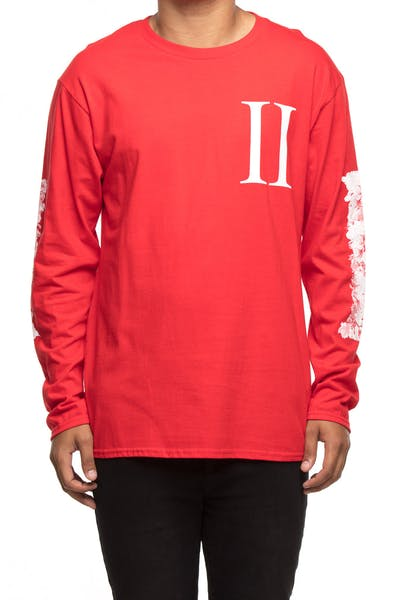 Migos Column Outline L/S Tee Red
