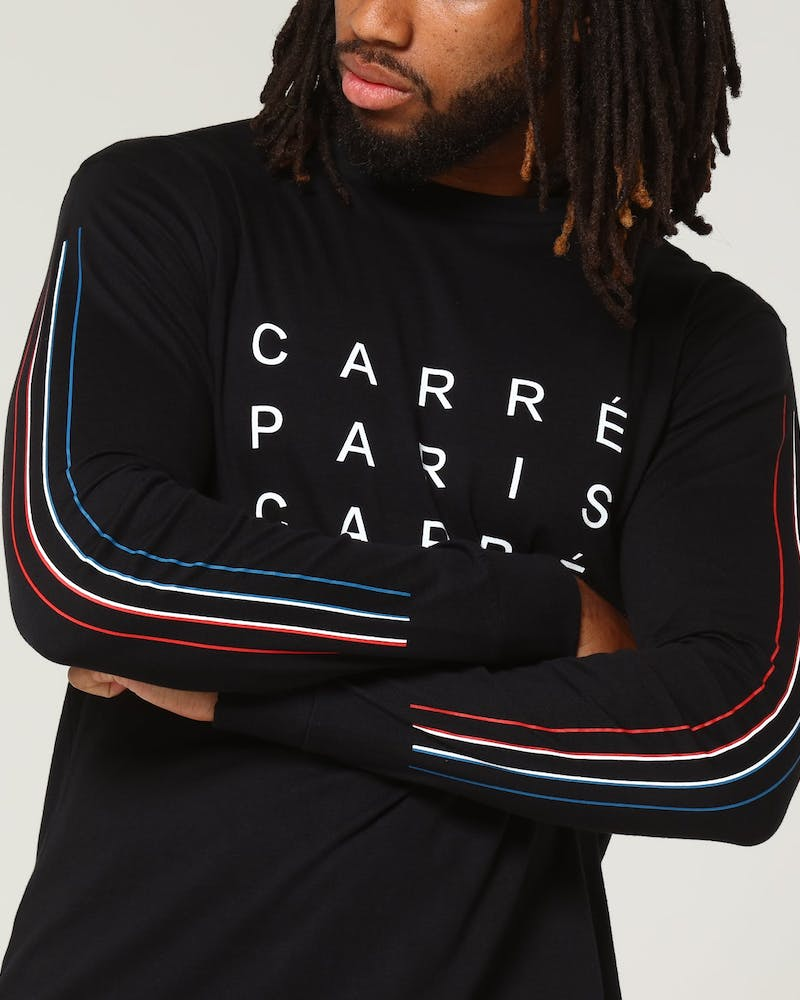 Carré Tri Colour De Base LS Tee Black
