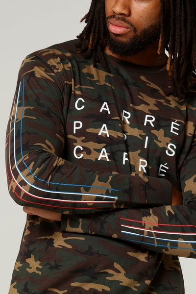 Carré Tri Colour De Base LS Tee Camo