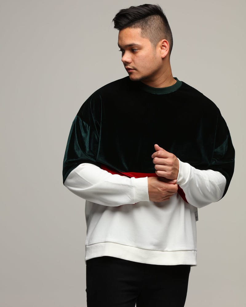 New Slaves Wavy Crew Neck Green/White/Red