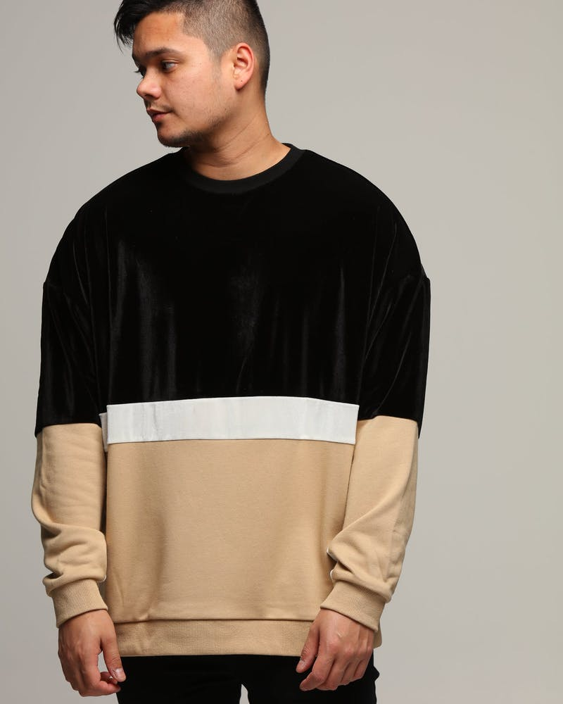ENES Wavy Crew Neck Black/Pebble/White