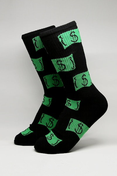 Goat Crew Baller Party Sock Black