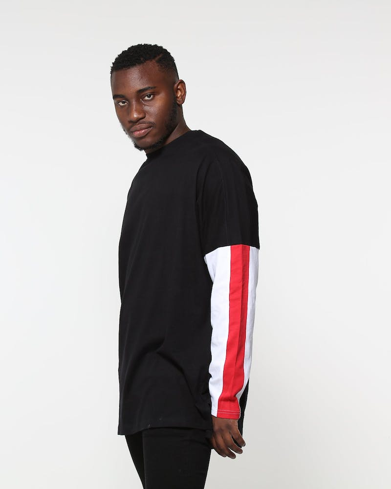 New Slaves Aviation LS Tee Black/White/Red