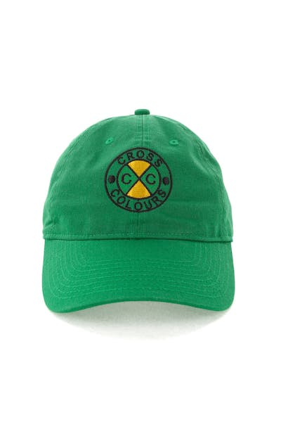 Cross Colours LA Classic Embroidered Dad Hat Green