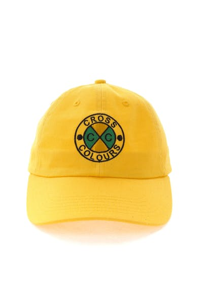 Cross Colours LA Classic Embroidered Dad Hat Yellow