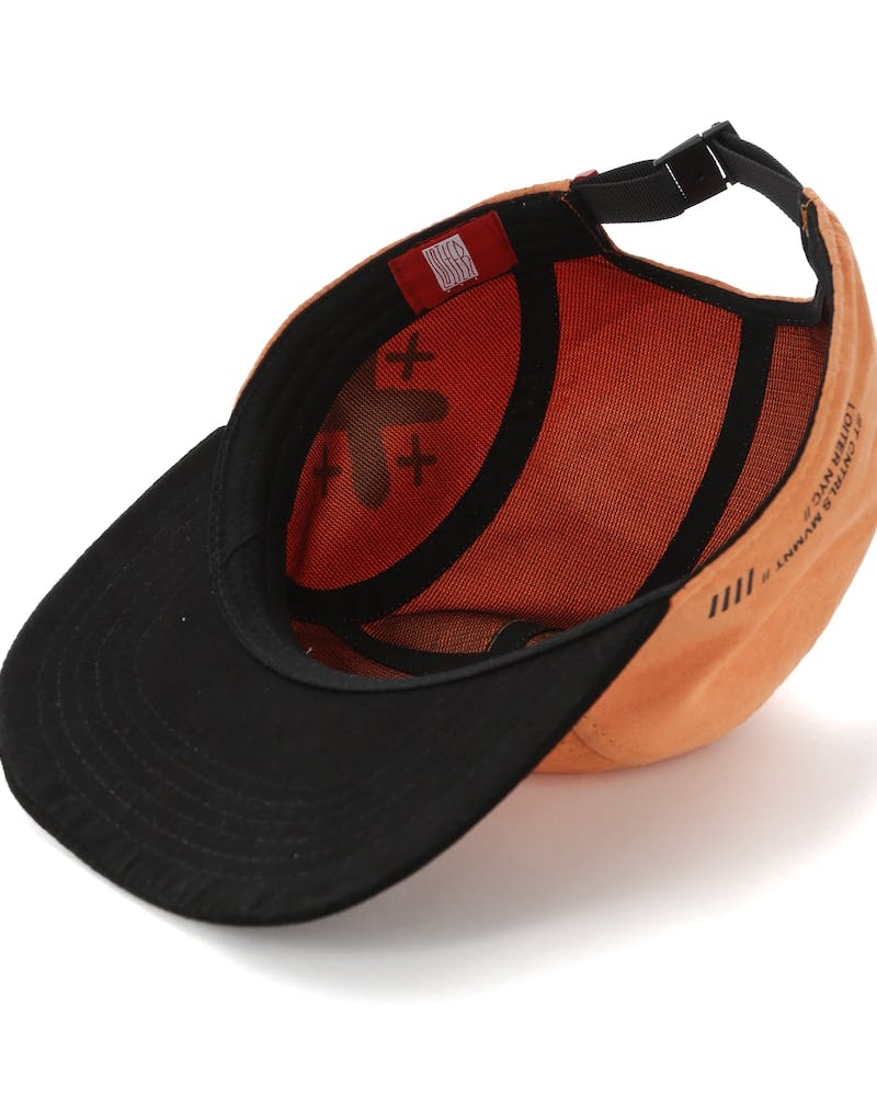 Loiter Stencil 5-Panel Hat Orange/Black