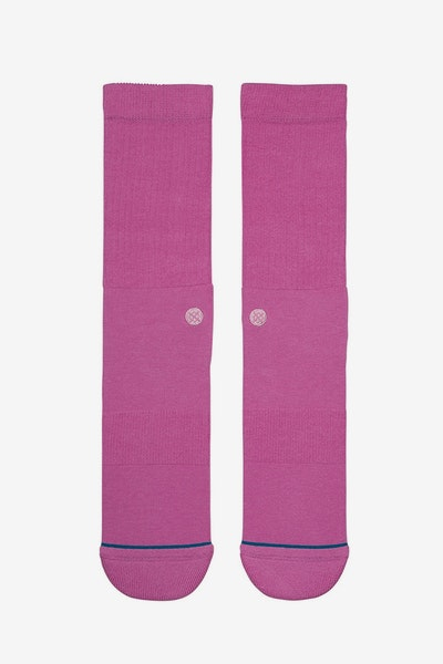 Stance Icon Athletic Sock Dark Pink