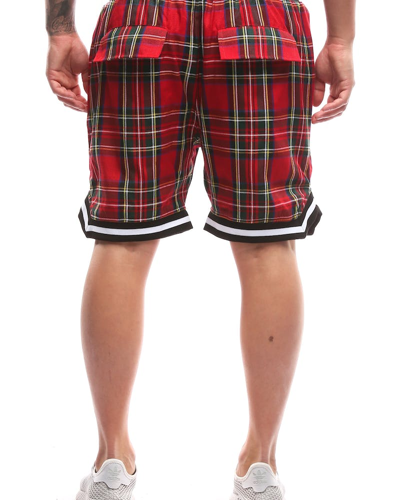Saint Morta Tartan Basketball Short Red