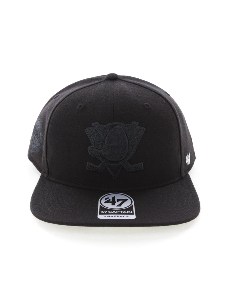 47 Brand Anaheim Ducks Captain Snapback Black/Black