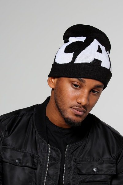 Carré Incline Beanie Black/White