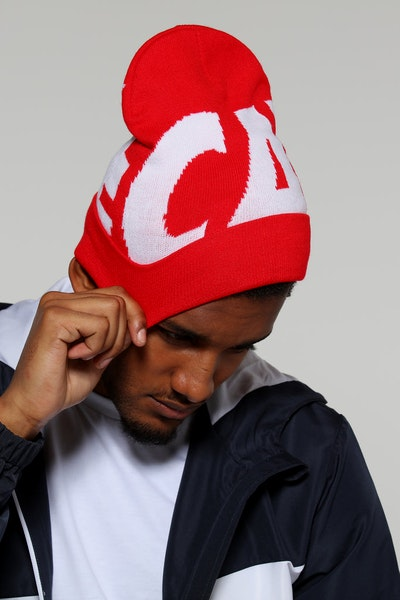 Carré Incline Beanie Red