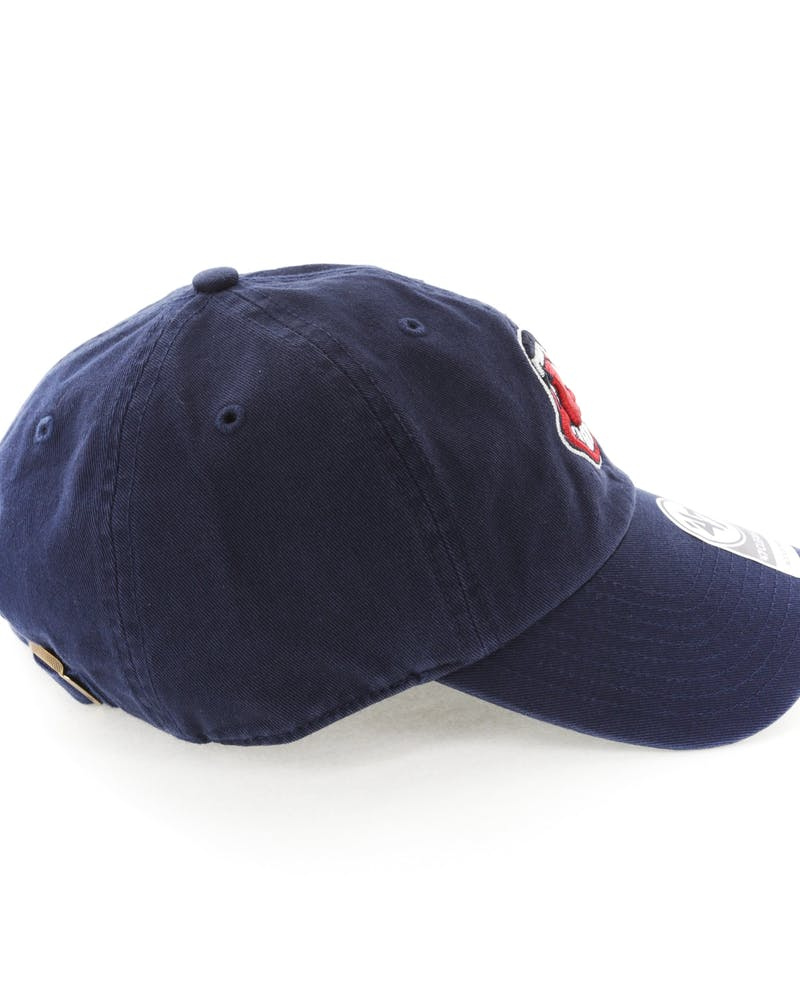 47 Brand Cleveland Indians Clean Up Strapback Navy