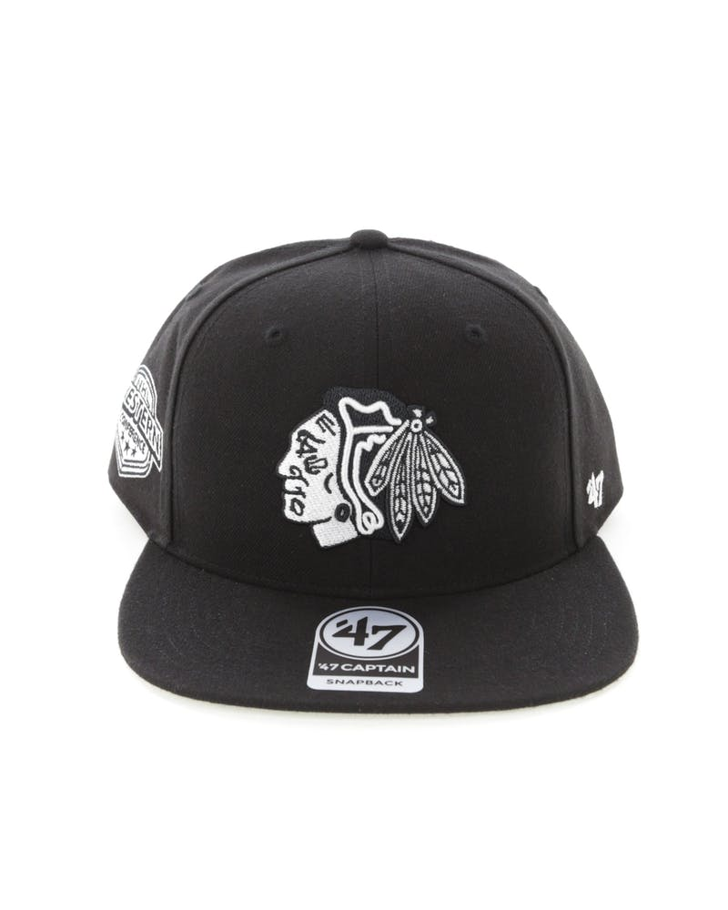 47 Brand Chicago Blackhawks Captain Snapback Black/White