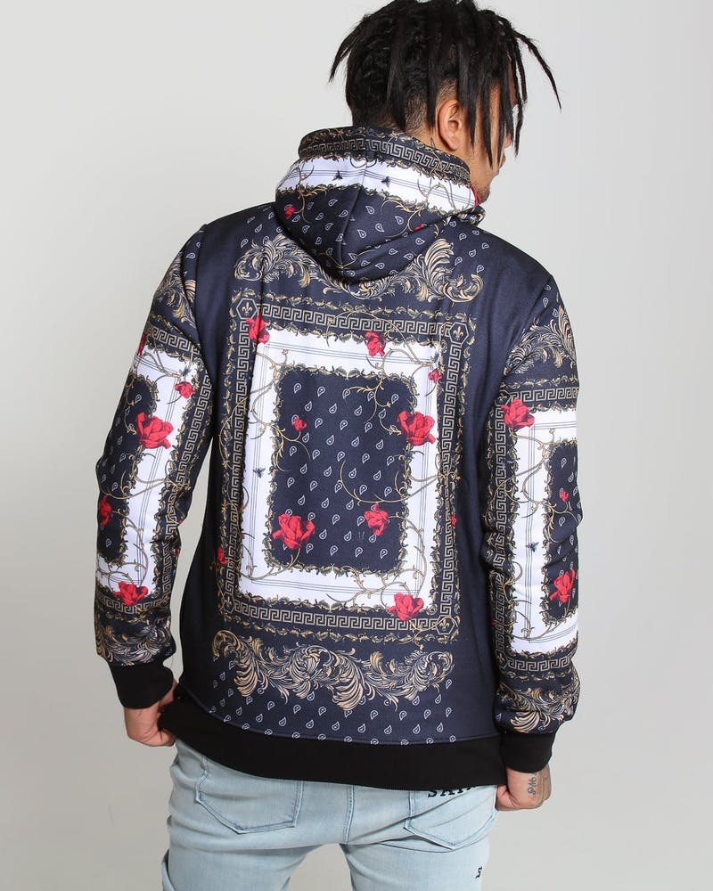 Criminal Damage Avi Hood Black/Multi-Coloured