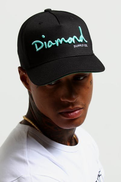 dc5e3322ba2 Diamond Supply OG Script Snapback Core Black