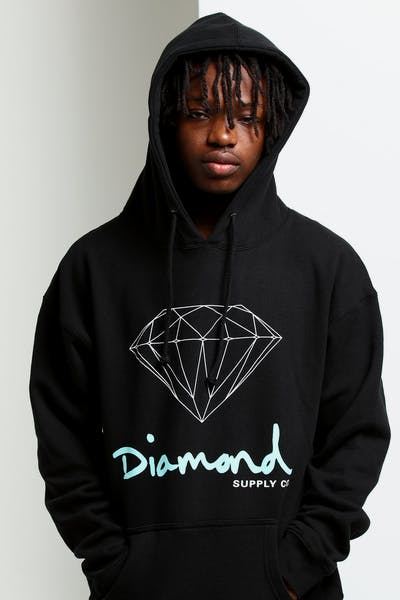 29fce930e98 Diamond Supply OG Sign Hoodie Core Black