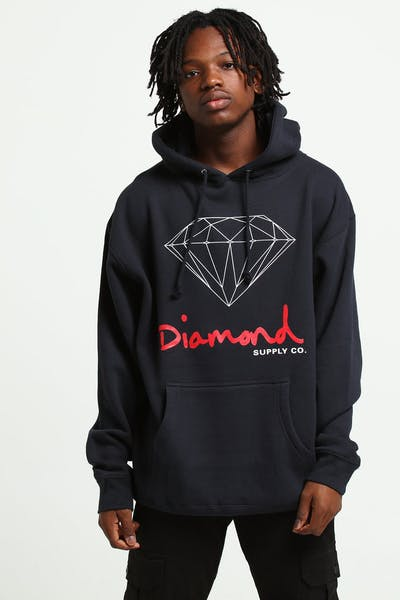 Diamond Supply OG Sign Hoodie Core Navy
