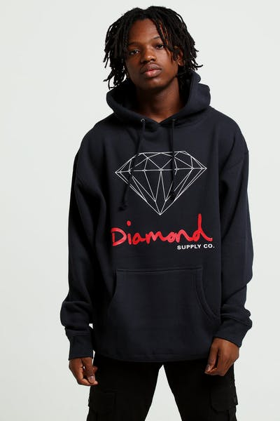1311073ca09 Diamond Supply OG Sign Hoodie Core Navy