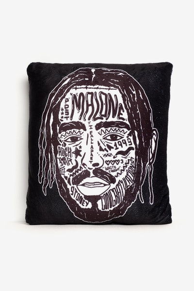 Goat Crew Malone Expression Pillow Black/White