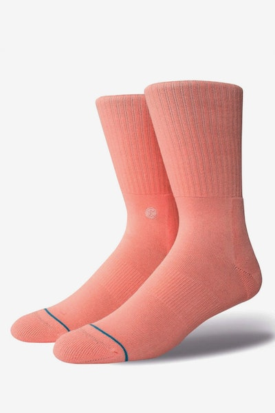 Stance Icon Athletic Sock Pastel Pink