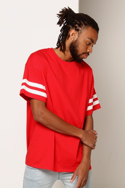 New Slaves Parallax Tee Red/White