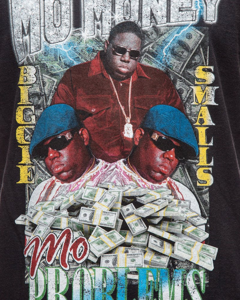 Notorious B.I.G X Culture Kings Mo Money SS Tee Black