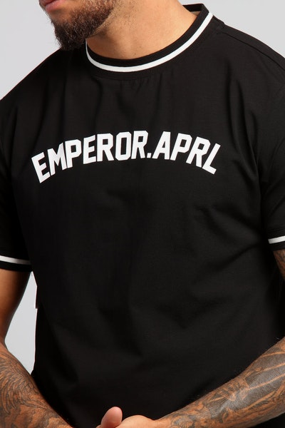 Emperor Apparel Baseball T-Shirt Black